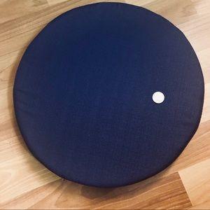 Linen Floor Seat Cushion Royal Blue Purple 16 x 2